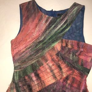 BCBGMaxAzria Dresses - BCBG MaxAzria multi colored dress with cut out